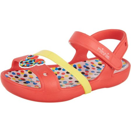 Crocs Toddler Girls Minnie Polka Dots Sandals
