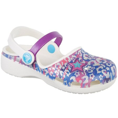 Crocs Toddler Girls Karin Leopard Clogs