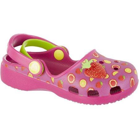 Crocs Toddler Girls Karin Berry Clogs