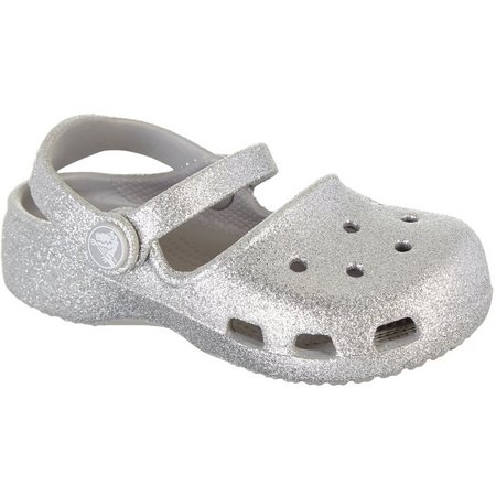 Crocs Toddler Girls Karin Sparkle Sandals