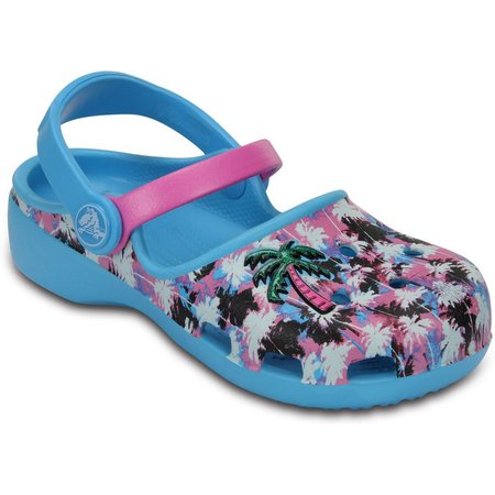 Crocs Toddler Girls Karin Palm Tree Clogs