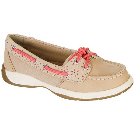 Sperry Girls Laguna Floral Cut Outs Boat Shoes