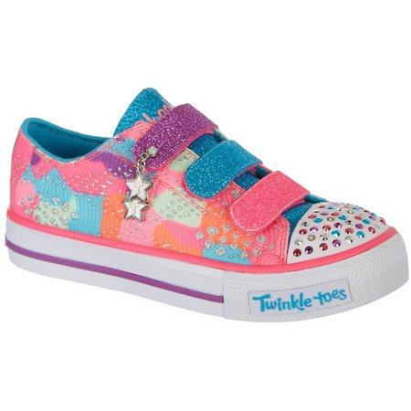 Skechers Girls Twinkle Toes Patchwork Casual Shoes