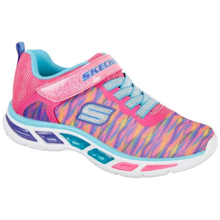 New! Skechers Girls Litebeams Colorbust Athletic Shoes