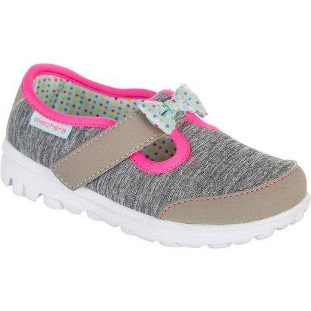 Skechers Toddler Girls GOwalk Bitty Bow Shoes