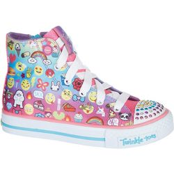 Skechers Girls Twinkle Toes Chat Time Shoes