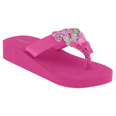 Capelli Girls Butterfly Platform Flip Flops