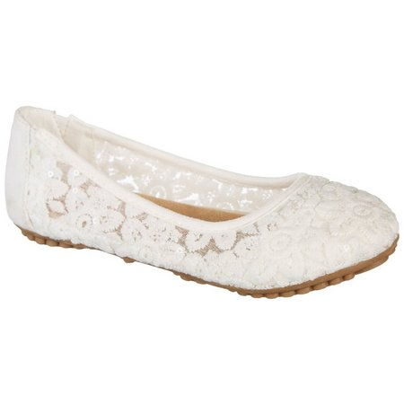 Jellypop Girls Coridal Lace Dress Shoes