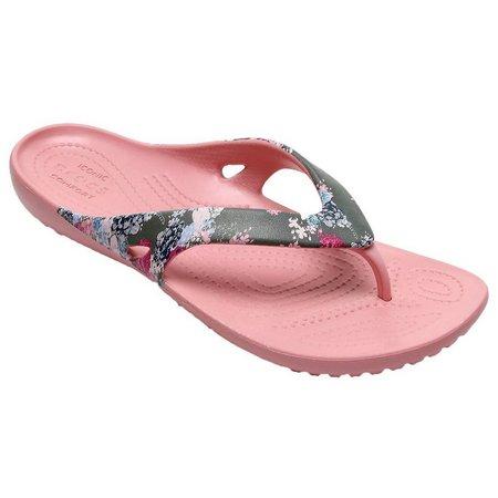 Crocs Womens Kadee II Floral Flip Flops