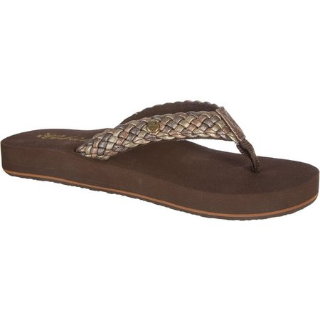 Cobian Womens Braided Bounce Flip Flops