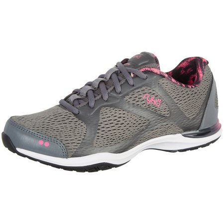 New! Ryka Womens Grafik Silver Athletic Shoes