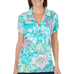 Caribbean Joe Womens Caribbean Dream Polo Top