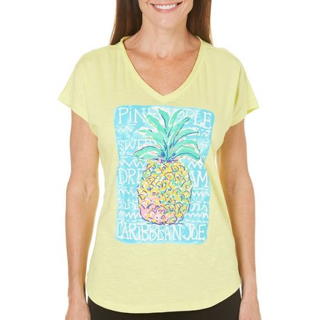 Caribbean Joe Womens Pineapple T-Shirt