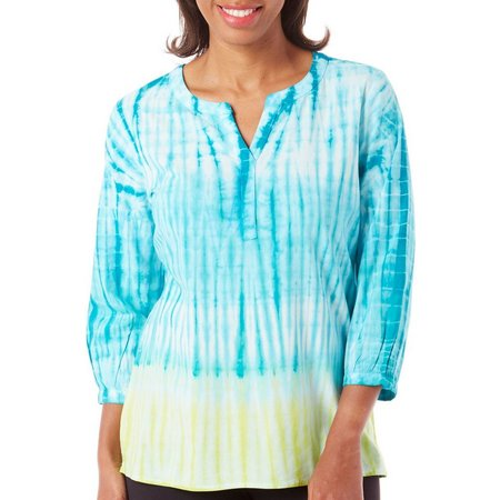 Caribbean Joe Womens Tie Dye Tunic Top