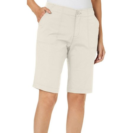 Caribbean Joe Womens Solid Skimmer Shorts