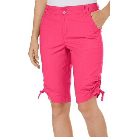 Caribbean Joe Womens Side Ruched Skimmer Shorts