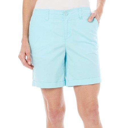 Caribbean Joe Womens Cuffed Hem Shorts