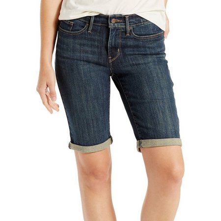 Levi's Womens Denim Bermuda Shorts