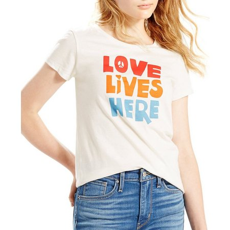 Levi's Womens Slim Love Lives Here Graphic T-Shirt