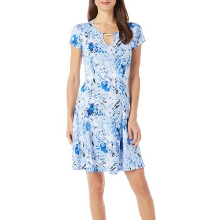 Nue Options Womens Agra Botanical Floral Dress