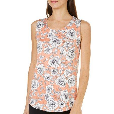 Nue Options Womens Jaipur Floral Pocket Tank Top