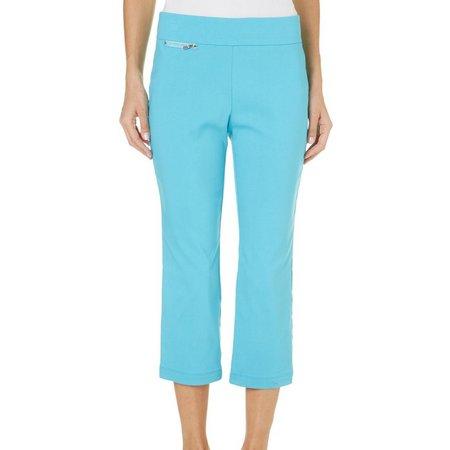 New! Nue Options Womens Goa Solid Capri Pants