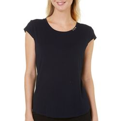 Nue Options Womens Nagano Button Accent Top
