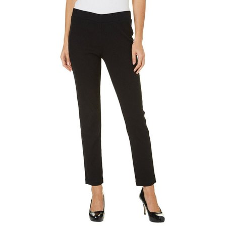 Nue Options Womens Jacquard Pull-On Stretch Pants