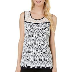Nue Options Womens Nagano Crochet Lace Tank Top