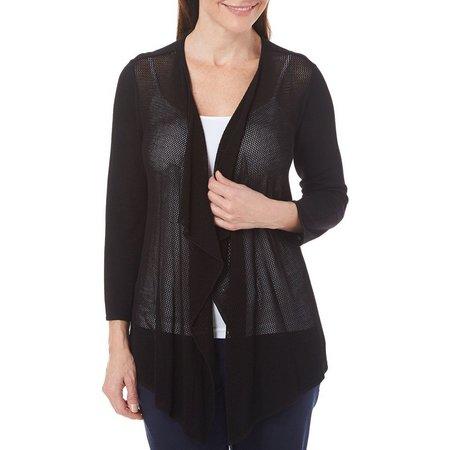 Nue Options Womens Essentials Cozy Mesh Cardigan
