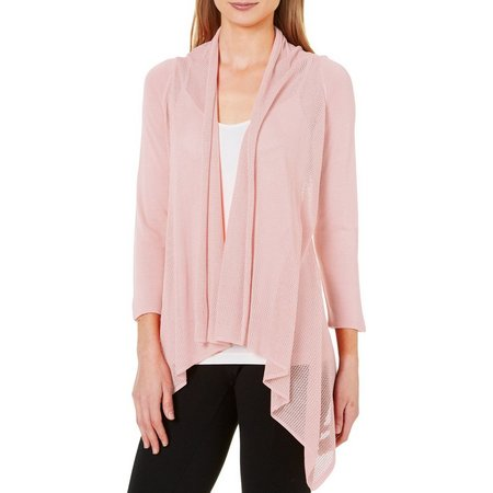 Nue Options Womens Cozy Open Front Cardigan