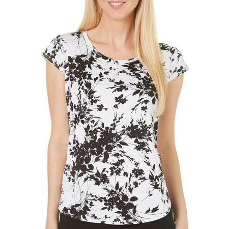Nue Options Womens Perth Floral Cap Sleeve Top