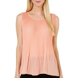 Nue Options Womens Melbourne Pleated Tank Top
