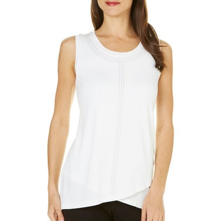 Nue Options Womens Melbourne Embellished Tank Top