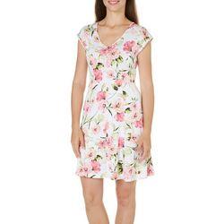 Nue Option Womens Melbourne Botanical Print Dress