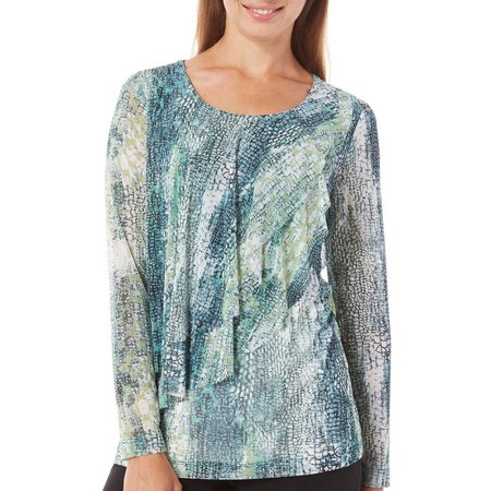 Nue Options Womens Baracoa Tiered Print Top