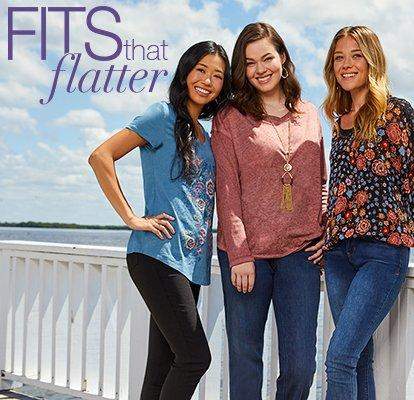 Fits that Flatter featuring Fashion Tops
