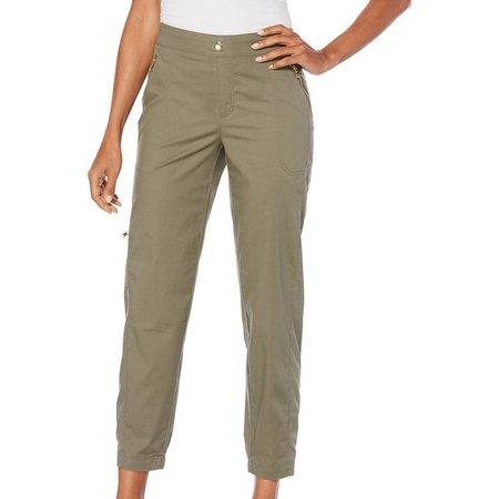 Rafaella Womens Stretch Ripstop Cargo Ankle Pants