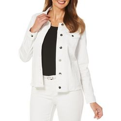 Rafaella Womens Lace Back Denim Jacket