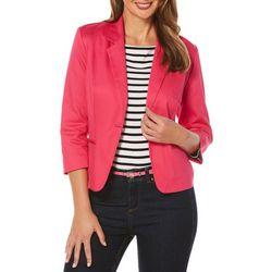 New! Rafaella Womens Pique Textured Blazer Jacket
