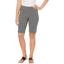 Rafaella Womens Geo Super Stretch Bermuda Shorts