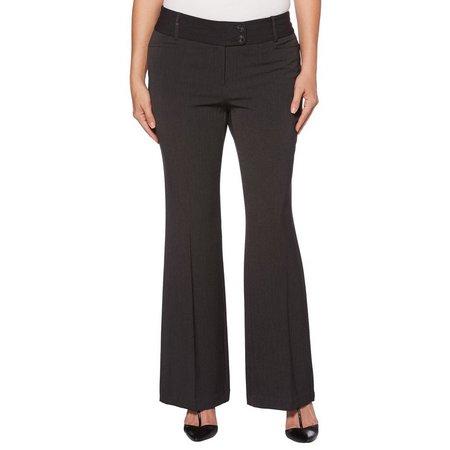 Rafaella Womens Curvy Fit Solid Pants