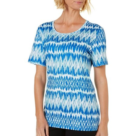 Coral Bay Womens Energy Blue Print Top