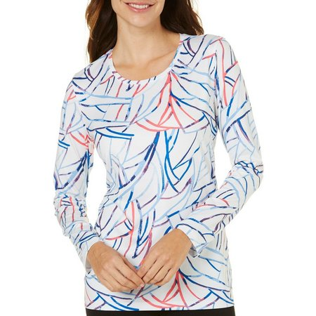 Coral Bay Womens Energy Watercolor Print Top