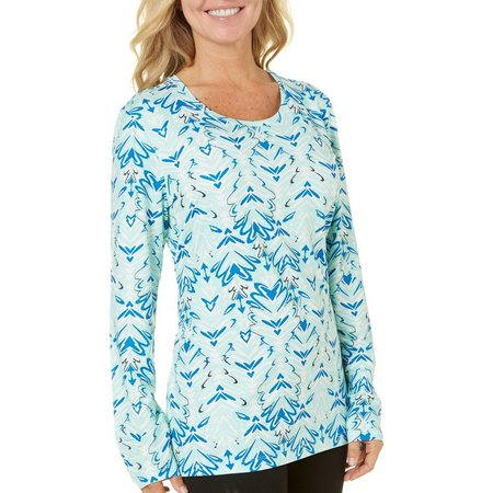 Coral Bay Womens Energy Ice Print Top