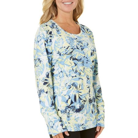 Coral Bay Energy Womens Tropical Print Long Sleeve