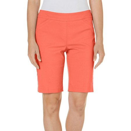 Coral Bay Womens Havana Millennium Solid Shorts