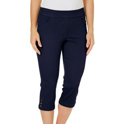 Coral Bay Womens Pull-On Stretch Capris