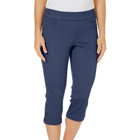 New! Coral Bay Womens Pull-On Stretch Capris