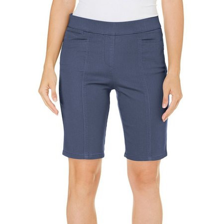 New! Coral Bay Womens Pull-On Stretch Solid Shorts